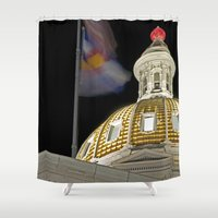 denver Shower Curtains featuring Denver Capitol  by Andrew C. Kurcan