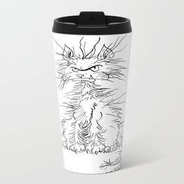 Disgruntled Cat Metal Travel Mug