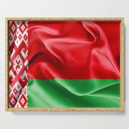 Belarus Flag Serving Tray