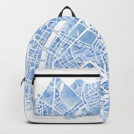 Copenhagen Denmark watercolor city map Backpack