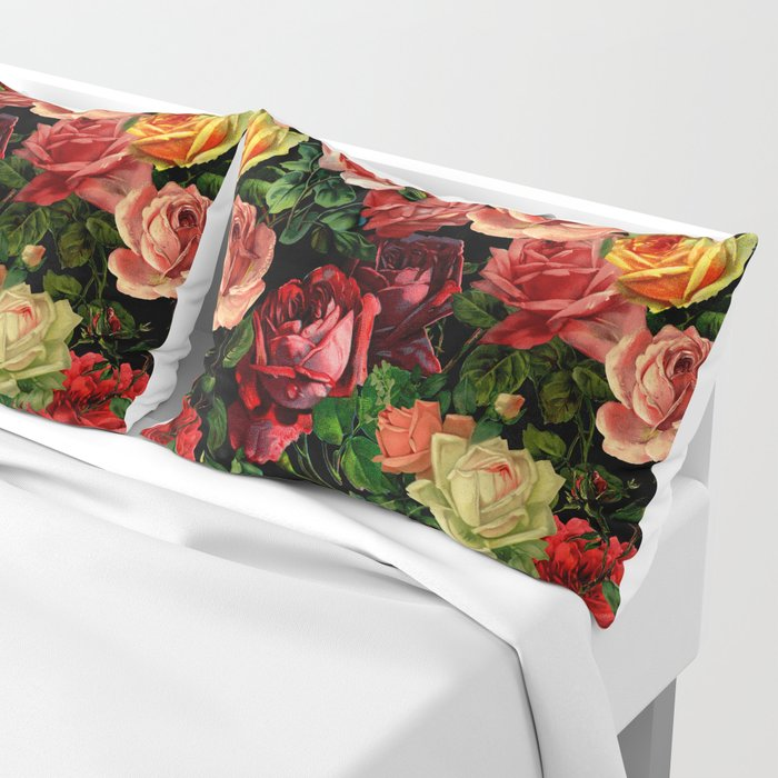 Vintage & Shabby chic - floral roses flowers rose Pillow Sham