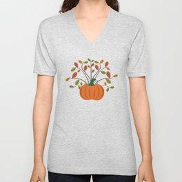 Fall Pumpkin Unisex V-Neck