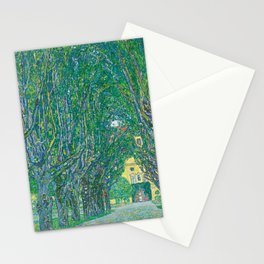 Avenue In The Park Of Schloss Kammer Stationery Cards