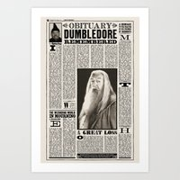 Harry Potter Daily Prophet Art Print