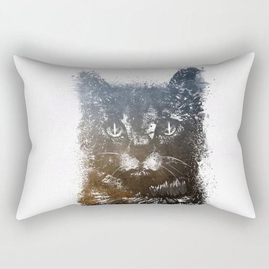 Gray cat Lucky Rectangular Pillow