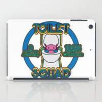 toilet iPad Cases featuring Toilet Squad by Justin Kedl