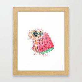 Miss pastèque Framed Art Print
