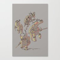 ninja turtles Canvas Prints featuring Turtles by Fightstacy