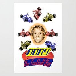 Rory the Football Star Art Print