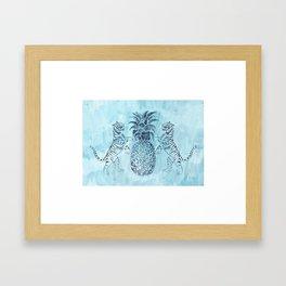 Bandipur (on Celadon Blue) Framed Art Print