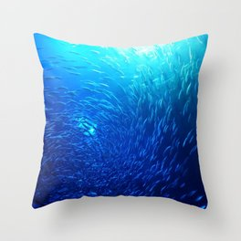 Swirling School Throw Pillow