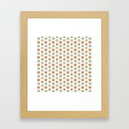 Circle Pup Pattern Framed Art Print