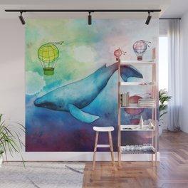 Sky Whale Wall Mural