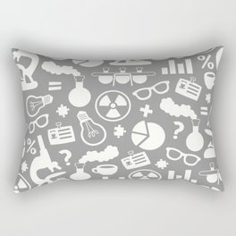 Grey Scientist Rectangular Pillow