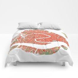 Venice city map classic Comforters