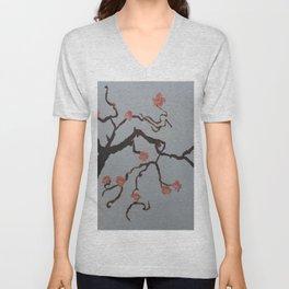 Japanese Cherry Blossoms Unisex V-Neck