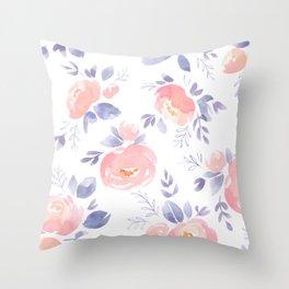 Blush Peony Throw Pillow