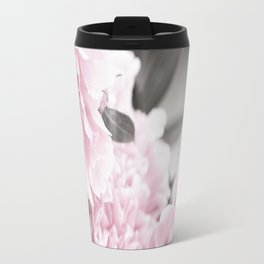 Summer Atmosphere Pale Pink Peonies On The Table #decor #society6 Travel Mug