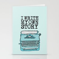 write Stationery Cards featuring I Write  by Kendra Amy Allen