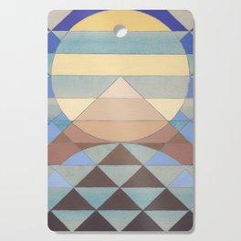 Pyramid Sun Turquoise Cutting Board