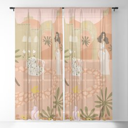 Safari Home Sheer Curtain