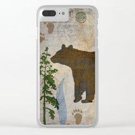 POSTCARD BEAR Clear iPhone Case