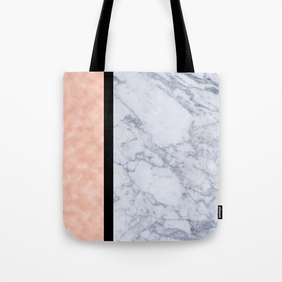 Modern candy pink and marble Tote Bag