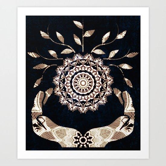 Glowing Soul-Seed Mandala Art Print