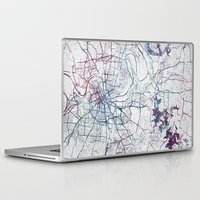 nashville Laptop & iPad Skins featuring Nashville by MapMapMaps.Watercolors