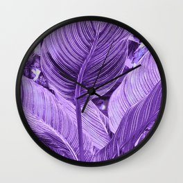 Alien plant Life Purple Wall Clock