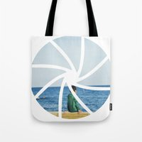 focus Tote Bags featuring focus by iulia pironea