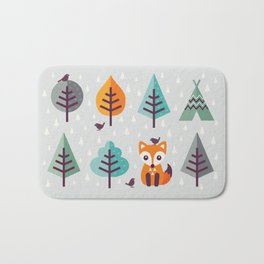 FOX IN THE FOREST Bath Mat