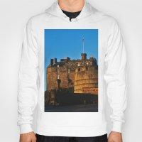 edinburgh Hoodies featuring Edinburgh Castle by merialayne