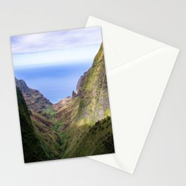 Hawaii: Ocean Aerial View from the Napali Cliffs Stationery Cards