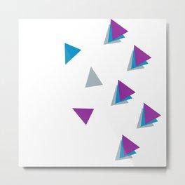 Falling Angles (Purple, Gray) Metal Print
