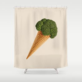 broccoli ice cream Shower Curtain