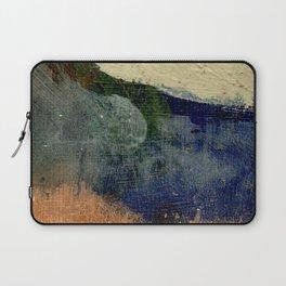Abstract Oil on Wood Laptop Sleeve