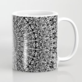 Grey Geometric Floral Mandala Coffee Mug