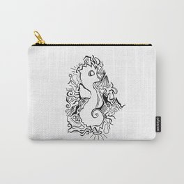 Seahorse Lineart Carry-All Pouch
