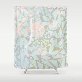 Opal Shattered Glass Shower Curtain