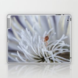 Clover Mite on a clematis Laptop & iPad Skin