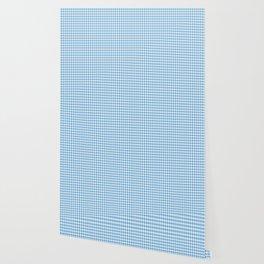 Blue Micro-Snowflake Pattern Wallpaper