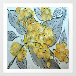 golden phlox Art Print