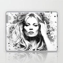 Watercolor Sixties Style Kate Moss Laptop & iPad Skin