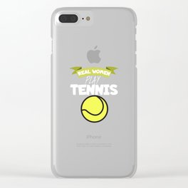 Real women play tennis Clear iPhone Case