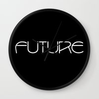 future Wall Clocks featuring Future by eARTh