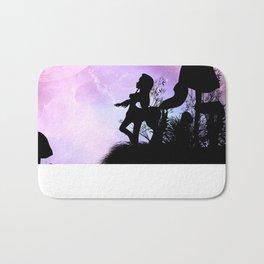 Cute centaurs silhouette Bath Mat