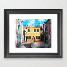 Little Yellow House in Burano Framed Art Print