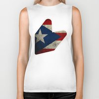puerto rico Biker Tanks featuring JDM puerto rico FLAG by designbook