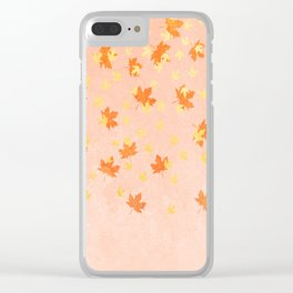 My favourite colour: Gold OCTOBER - Indian Summer - Rose Gold autumnal leaves Clear iPhone Case